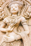 Apsara carvings statue on the wall ,Cambodian art Royalty Free Stock Image