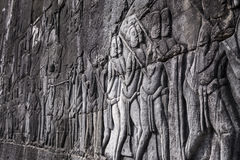 Free Apsara Carvings Status On The Wall Of Angkor Temple, World Herit Royalty Free Stock Photography - 58970427