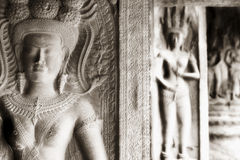 Apsara chez Angkor Wat Image libre de droits