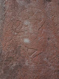 Apsara dance bas-relief in Preah Khan, Siem Reap Royalty Free Stock Image