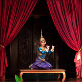 Apsara Dance. Khmer classical dancer performing Apsara Dance in traditional costume on January 11, 2013 in Siem Reap, Cambodia. Apsara Dance is the ancient Stock Images