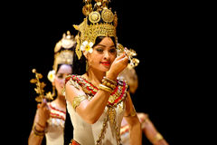 Apsara dance Stock Images