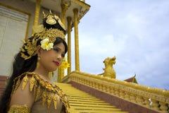 Apsara Dancer. Beautiful supernatural female in asian mythology Royalty Free Stock Image