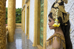 Apsara Dancer. Beautiful supernatural female in asian mythology Stock Photos