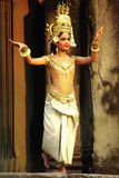 Apsara Dancer at Angkor Wat Royalty Free Stock Photography
