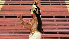 Apsara Dancer beautiful supernatural female in asian mythology stock video footage