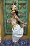 Apsara Dancer Performance in Temple Royalty Free Stock Image