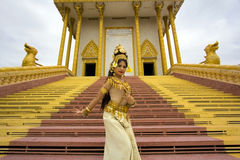 Apsara Dancer Performance in Temple Royalty Free Stock Photo