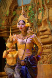 Apsara dancer performs Stock Photography