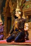Apsara dancer performs Stock Image