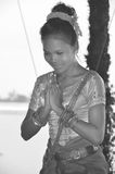 Apsara dancer Stock Images