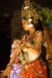 Apsara dancer in red skirt Royalty Free Stock Photo