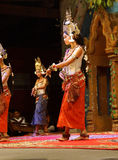 Apsara dancer in red skirt Stock Photography