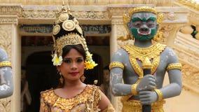 Apsara Dancer seductive beautiful supernatural female in asian mythology stock footage