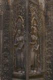 Apsara dancer stone carving at Angkor Wat temple Royalty Free Stock Photos