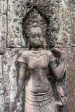 Apsara dancer on the wall in Angkor Wat, Siem Reap, Cambodia Stock Images