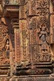 Apsara dancer on walls  Banteay Srei Royalty Free Stock Image