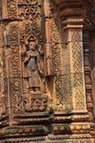 Apsara dancer on walls  Banteay Srei Stock Photography