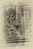 Apsara dancer on walls  Banteay Srei Stock Images