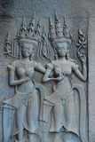 Apsara dancers. At Angkor Vat Stock Photo