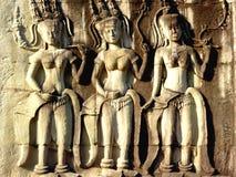 Apsara dancers at Angkor in Cambodia Royalty Free Stock Photography