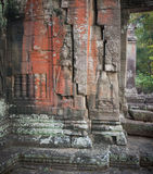 Apsara dancers, bas-relief of Angkor, Cambodia Stock Image