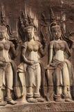 Apsara dancers decorate Angkor Wat Royalty Free Stock Photos