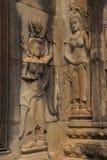 Apsara dancers decorate Angkor Wat Royalty Free Stock Photography