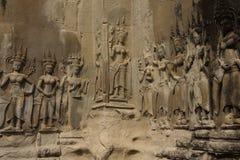 Apsara dancers decorate Angkor Wat Stock Photos