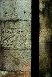 Apsara dancers pillars, Angkor Wat, Cambodia. Royalty Free Stock Photos