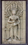 Apsara dancers statue stone carving Royalty Free Stock Photos