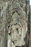 Apsara dansare Carving Arkivbild