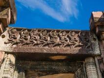 Apsara dansare stenar att snida på historiska Phimai parkerar Fotografering för Bildbyråer