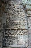 Apsara, das bei Angkor Wat Siem Reap Province Cambodia schnitzt Stockbild