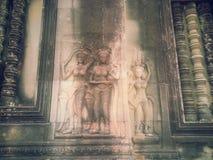 Apsara en devata royalty-vrije stock afbeeldingen