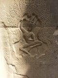 Apsara en devata royalty-vrije stock afbeelding