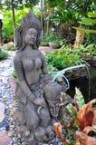 Apsara figures, celestial dancers decorated in garden. Thailand stock photography