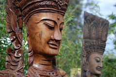 Apsara figures in garden Royalty Free Stock Image