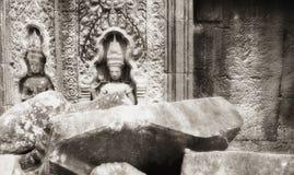 Apsara mit Fluss-Steinen Stockbild