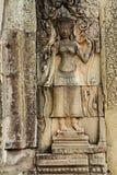 Apsara no templo de Bayon imagens de stock royalty free