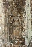 Apsara przy Bayon świątynią Fotografia Stock