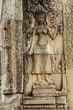 Apsara przy Bayon świątynią Obrazy Royalty Free