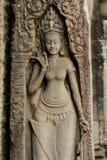 Apsara przy Bayon świątynią fotografia royalty free