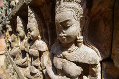 Apsara Relief statue Stock Photos