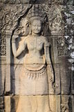 Apsara relief stone carving Royalty Free Stock Photo