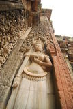 Apsara sculpture, Siem Reap, Cambodia. Apsara sculpture ancient art of Siem Reap Cambodia Royalty Free Stock Images