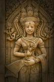 Apsara sculptures at Angkor Wat. Royalty Free Stock Images