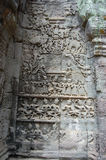 Apsara som snider på Angkor Wat Siem Reap Province Cambodia Fotografering för Bildbyråer