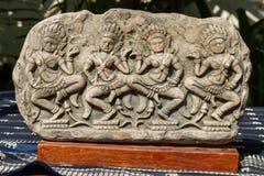 Apsara souvenirkopia av Angkor Wat Royaltyfri Foto