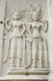 Apsara Statuen lizenzfreies stockfoto